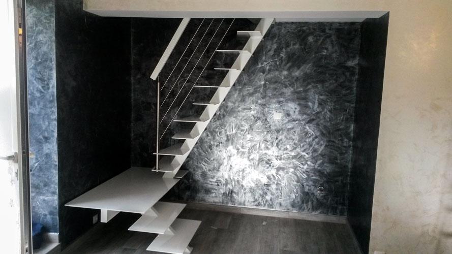 escalier pas d cal s noble acier. Black Bedroom Furniture Sets. Home Design Ideas
